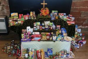 Harvest 2014 - donations for the Carlisle Food Bank