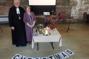 Christmas 2014 with Rev Richard Teal and his wife Sue
